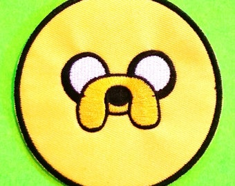 Jake the Dog Adventure Time Cartoon Network Pendleton Ward Yellow Comic Character Embroidered Canvas Iron or Sew On Patch