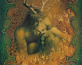 Beltane Reunion 20x24 Poster Fine Art Print Pagan Bohemian Mythology Goddess Art