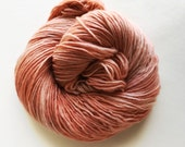 buff / hand dyed yarn / fingering sock dk bulky yarn / super wash merino wool yarn / single or ply / choose your base / pale neutral yarn