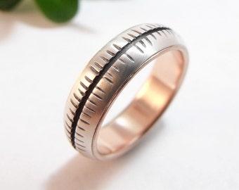 Womens Wedding Band Womens Ring Silver Wedding Band Rose Gold Wedding Band Womens Wedding Ring Silver Ring Heartbeat Mens Wedding Band Ring