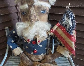MUSTARD SEED ORIGINALS, Uncle Sam, United States of America, Patriotic, Americana, Red, White, Blue, TeamHaHa, Hafair, Doll / Sharon Stevens