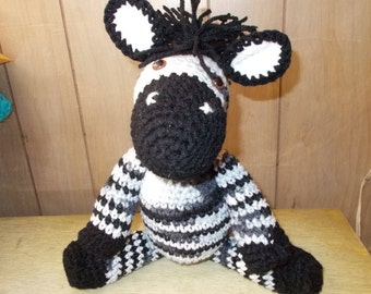 Zebra Amigurumi, Handmade Crochet Amigurumi,Basic Zebra, Toy, Plushie, Zoo Animal, Gift, Ready to Ship, Easter Baby Gift