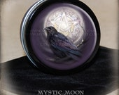 Raven/ Moon / Stitch Marker Tin / Notion Tin / Storage Tin / Pill Box / Gift Tin / Tin Box / Alter Supplies / Pentagram /Crow /Pagan /Wiccan