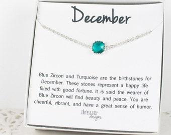 December Birthstone Silver Bracelet, Blue Zircon Bangle Bracelet, December Blue Zircon Bracelet, Silver Bracelet, December Bracelet
