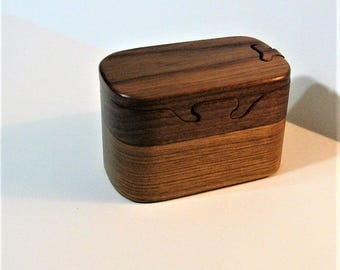 Puzzle Box Made Of Two woods
