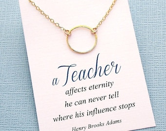 Mentor Teacher Gift | Eternity Necklace, Teacher Gifts, Mentor Gift, Karma Necklace, Mentor, Mentor Appreciation, Mentor Teacher Gift | T02