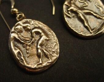 Westlers | Olympic Greek coin - Earrings