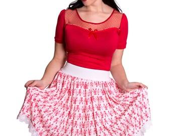 ABIGAIL_04 Ruffled Waist Skirt LOBSTER LOVE