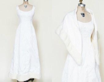 Vintage Winter Wedding Dress --- 1960s Wedding Dress