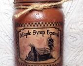 Grungy Primitive Jar Candles, Shepherd Maple Syrup Festival, 1 pint, maple pecan, Moeggenborg Sugar Bush