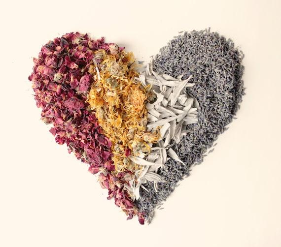 Flower girl flowers, Dried flower mix, 4 CUPS, organic wedding toss, Bird Friendly flower potpourri, Rose petals, Lavender, Marigold, Sage