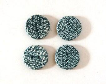 Set of 4 unique buttons