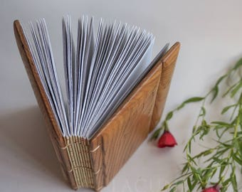 Wood notebook Wish book