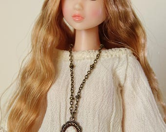 Cameo necklace - Handmade jewerly for Momoko and 1/6 fashion dolls