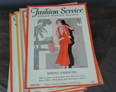 Vintage Fashion Service Magazine February 1931 - The Woman's Institute of Domestic Arts magazine 1930s sewing and fashion trends
