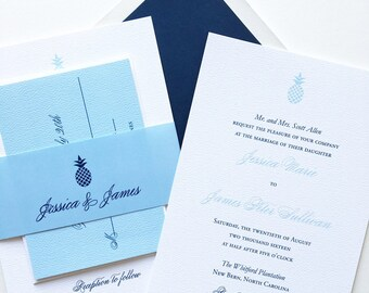 Pineapple wedding invitation - Southern Wedding Invitation