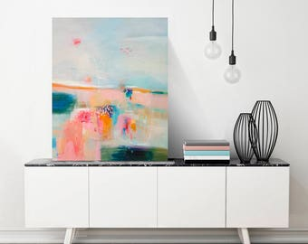 Abstract painting, acrylic painting, abstract art, wall art, home decor, canvas art, large painting, abstract landscape, wall decor