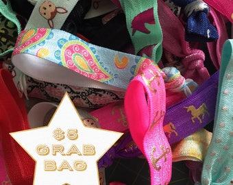 No Snag Elastic Hair Tie Grab Bag- Set of 12 Assorted Hair Ties