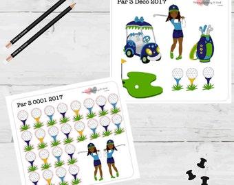 Golf Stickers Par 3 Planner Stickers Golf Balls