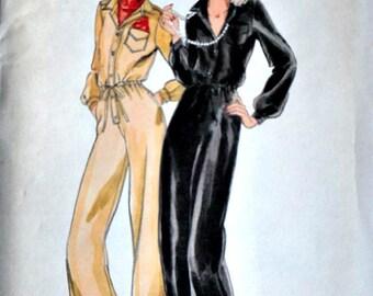 Vintage 70's Butterick 5131 Sewing Pattern, Misses' Jumpsuit, Size 8, 31.5 Bust, Uncut FF, Retro 1970's Fashion
