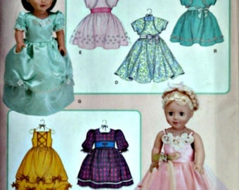 """Simplicity 3547 Elaine Heigl Designs Sewing/Craft Pattern, Doll Clothes For 18"""" Doll, Uncut FF"""