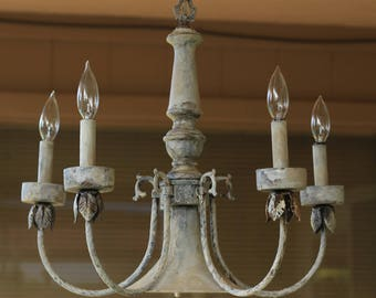 Shabby Chic Distressed Chandelier