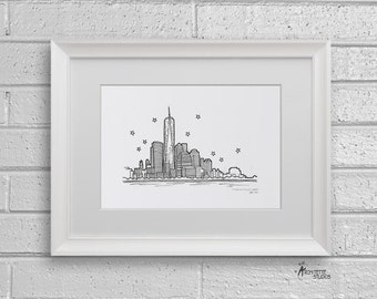 Sketch Series - Freedom Tower, New York City - Art Print (5 x 7)