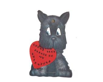 "Vintage Valentine Card - ""Great Scot: Please Be My Valentine"""