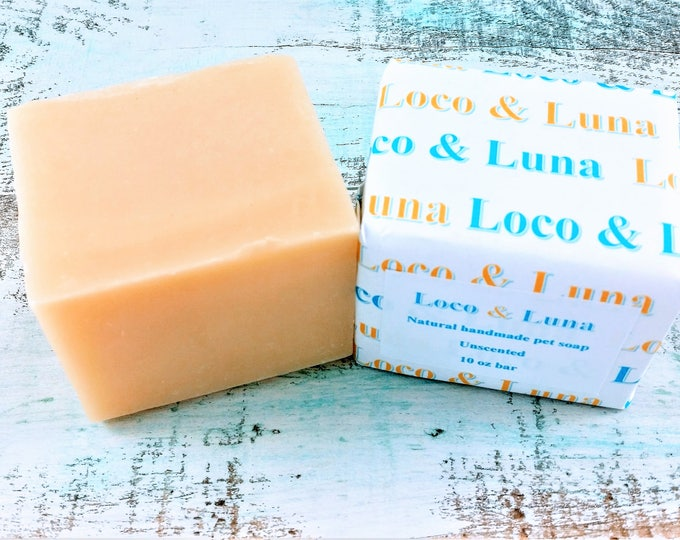 Natural unscented pet soap