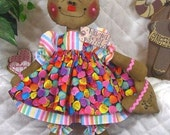"Primitive Raggedy VaLeNtinE's DaY 16"" GiNgErBrEaD DoLL! w/heart ornie"