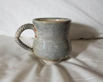 Crackle Mug Handmade Stoneware End the Backlog