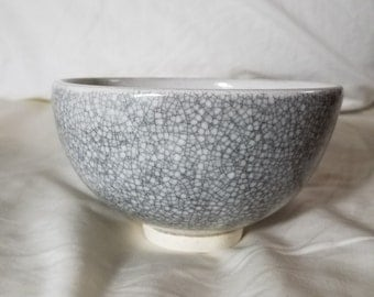 Crackle Bowls Set of 2 Hand thrown stoneware End the Backlog