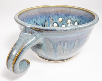 Berry Bowl Sink - Clay Berry Basket - Ceramic Berry Bowl - Drainer Dish - Pottery Colander - Colander - Strainer - Berry Colander - In Stock