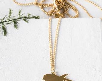 Tiny Bird Necklace, gold silver minimalist pendant charm jewelry,  girls children kids jewelry