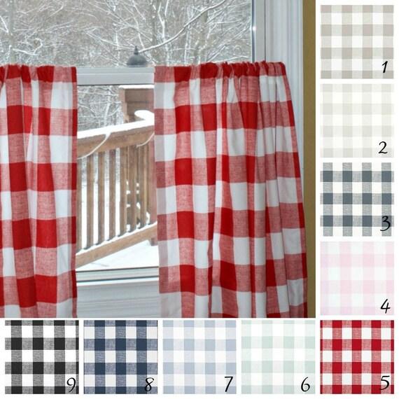 Red Buffalo Check Cafe Curtains Curtain Menzilperde Net