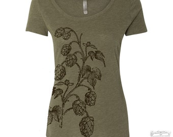 Womens HOPS TriBlend Scoop Neck Tee - T Shirt S M L XL XXL (+ Colors)