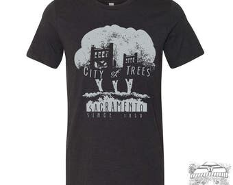 Mens CITY of TREES T Shirt s m l xl xxl (+ Color Options) hand screen printed