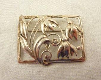 SALE ---- Vintage Danecraft Sterling Silver Snowdrops Brooch