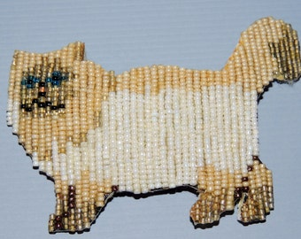 Beaded CAT Brooch