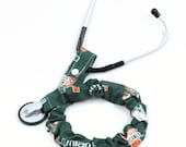 Stethoscope Cover for Removable Chest Pieces, Medical, Nursing Student, Stethoscope Sock, Student Nurse, U of Miami Hurricanes, NCAA, Fabric