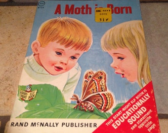 1967 A Moth Is Born Children's Junior Elf Book by Rand McNally