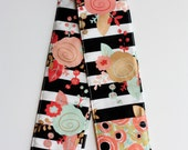 DSLR Camera Strap Cover with lens cap pocket and padding included - Pop Floral