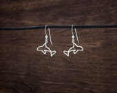Orca Whale Earrings - STERLING SILVER