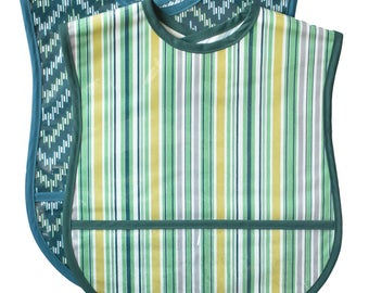 2 Extra Small Adult Bib Set - Choose any 2 Fabrics