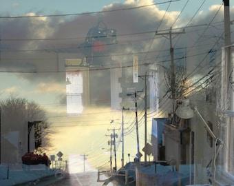 Surreal Street Sky Photograph