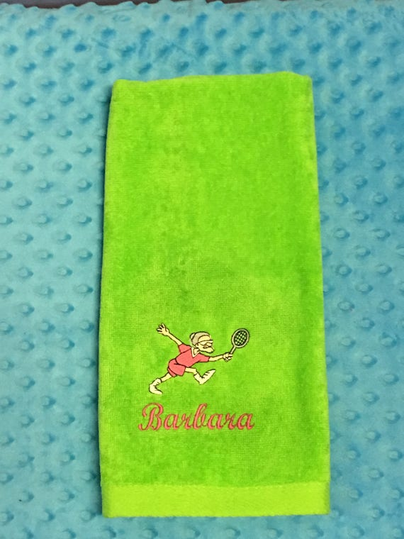 Tennis Towel Personalized With Old Lady