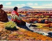 Vintage Arizona Postcard - On the Edge of the Painted Desert (Unused)