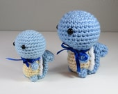Ready to Ship - JUMBO Chibi Pokemon Amigurumi - Squirtle Squad Crochet. Turtle. Starter Pokemon Plush. Pokemon Cosplay Nintendo Fiber Art.