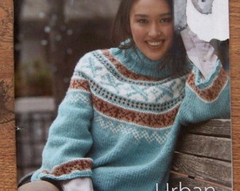 2011 knitting patterns bernat urban knits capelets jacket cardigan pullovers cowl and mittens