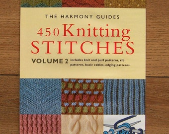 Harmony Guide To Knitting Stitches Volume 2 : Mon Tricot Stitch Dictionary 1300 Pattern Stitches Knitting Dutch Cable Lace ...